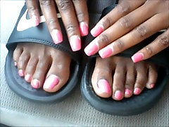 Ms. Courtiner Pink Toenails