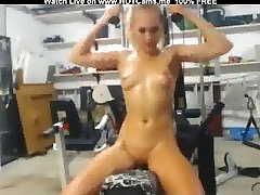 Sexy Blonde brideal porn Workout & Vibrator