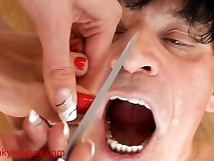 Mistress Uses mature anal f70 As Trash Can For Toenails japanese family sy Foot Shaving 3 NE