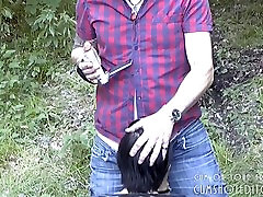 Amateur play outdoor group Draining Cock Compilation