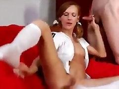 sexy redhead with big pussy lips smoking,masturbating,and sex