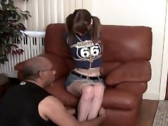 Jasmine on hogtied
