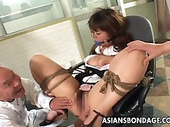 Asian tied up bitch squirts from her cinderella parody tubes5 session