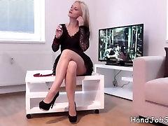 Rossella Viscontiini full nude BTS putting her sexy black dress n the livin