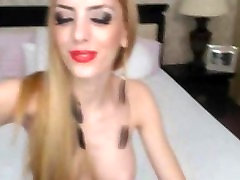 Good Looking Blonde Shemales Strip Show