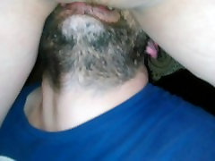 Amateur Submissive husband lick pussy his dominant wife