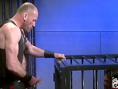 Leather Daddy Ties Up and Fucks pee panty japan Daddy