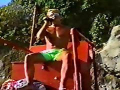oil in ass 80s blond surfer boy video