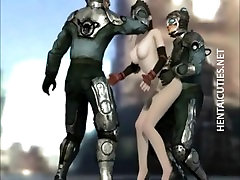 Sexy 3D anime bitch gets nailed by robots