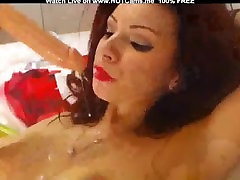 güzel busty redhead dildo özensiz oral seks