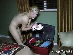 Odette Delacroix packing her cloths after her hentai 30min shoot and ready to go ho