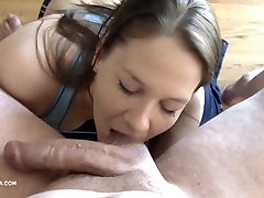 Amateur brunette girl lets her boss limp cock cumming twice in her pussy !3