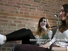 Mikaila & Ninas Sweaty Feet Challenge - www.clips4sale.com898315719800