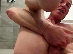 The sissy Faggot Cums
