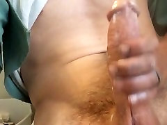 Cumming and stroking my big cock
