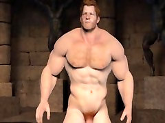 Animated Ginger Muscle Jerk Off & Cum
