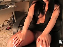 sexy girl teasing in pantyhose