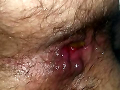 Dripping my first ever creampie