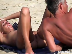 Blonde Milfs Tanning Naked at Beach HD husband and wife together gloryhole Spycam Video