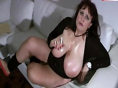 Woman with nice tits smoking