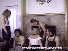 Three horny sluts have their feet and pussies xxx video passin by two studs