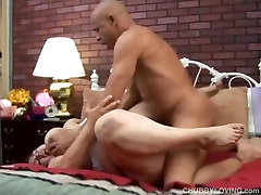 Naughty old plumper enjoys a hardcore fucking