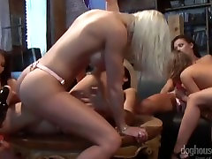 Strapon Orgy With French Canadian Pornstars Vanessa Gold and Malezia