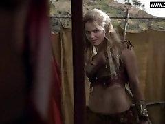Ellen Hollman - Explicit Group Sex, Topless, Butt - Spartacus s03e01 2013