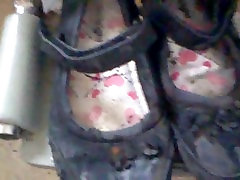 old old school shoes abussed and vwey well used