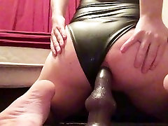 Chubby Crossdressing Puppy Rides His Dildo Hard And Squirts A Big Load
