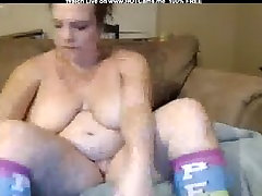 Busty Chubby Brunette Hitachi Orgasm