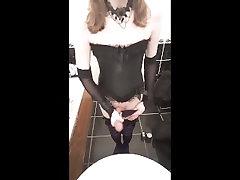Goth Crossdresser Cumshot