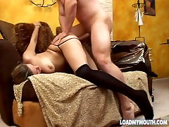 Casting video of 19 year old NIKKI NIEVEZ - Load My Mouth