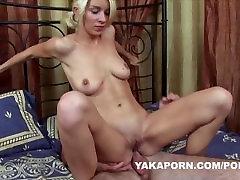Teen blonde anal sex cum in mouth
