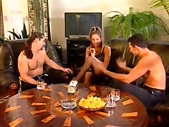 Spin the bottle - Kathy Heart with 2 men for DP and DAP