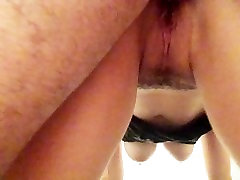 wet pussy fucked from behind creampied and squirts