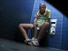 Masturbating in Public Bathroom Hidden Camera