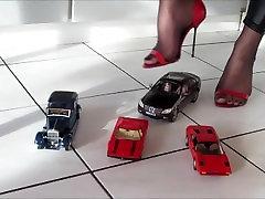 Nylon High-Heels car crush