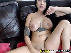 Tattooed temptation 01 got her tight Masturbates On Cam