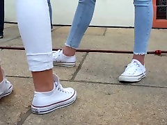 2 girls in converse - candid