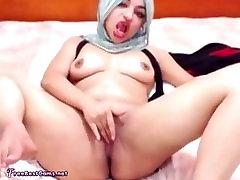 Pohoten Arabski Egipt Hidžab Muslimanskih Squirt Iz Masturbacija, Da Orgazem Na Webcam