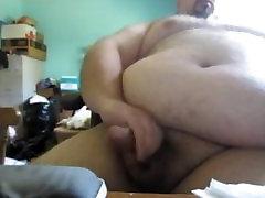 japanese glasses gangbang Bear Jerks His Big Fat Cock