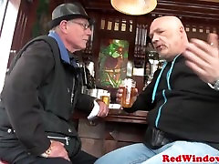 Dutch hooker cocksucking and doggystyling