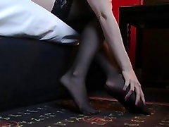 Young amateur in stockings