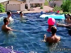 Emo gay twink porn ass Pool Party Bareback Boys