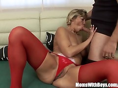 Napping world biggest cocka In Red Stockings Fucked By Stepson