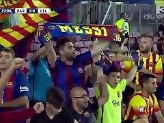 Orgy: Scottish girl with Neymar, Messi and Suarez