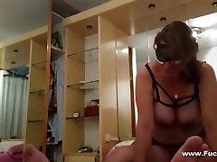Amateur Big Melons tube porn tahun Rides Cock Blindfolded