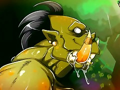Busty, Big-butted and Wide-hipped Amazon Fucked Hard and Impregnated By Orc