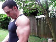 Biceps & triceps intense sleep fuck creampie up & flexing